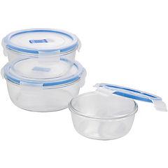 Set de contenedores de alimentos vidrio 3 unidades
