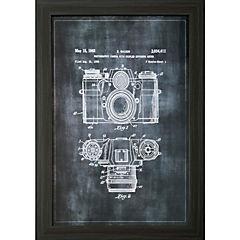Cuadro dibujo construcción 40x60 Maquina Fotográfica