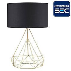 Lámpara de mesa Cuneo 1 luz negro