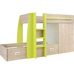 Camarote Confo 273x116x150 cm verde y oak