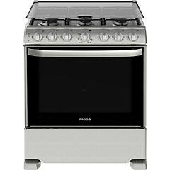 Cocina a gas 6 quemadores 126 litros gris