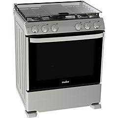 Cocina a gas 5 quemadores 126 litros gris