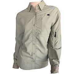 Blusa de trabajo con cinta reflectante beige