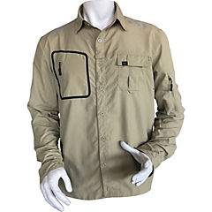 Camisa de trabajo con cinta reflectante beige