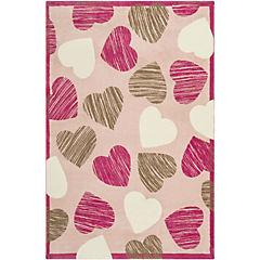 Alfombra infantil Hearts 115x175 cm