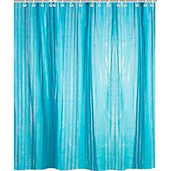 Cortina de baño con forro Violet poliéster 180x180 cm