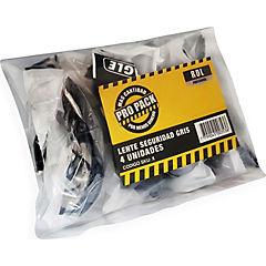 Set de lentes de seguridad 4 unidades gris