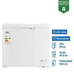 Congelador industrial horizontal dual 203 litros Blanco