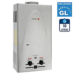 Calefón a gas licuado 10 litros tiro natural