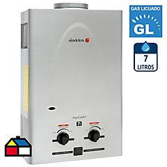 Calefón a gas licuado 7 litros tiro natural