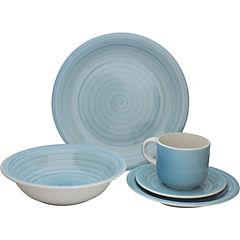 Juego de vajilla Nordica 20 piezas cerámica turquesa