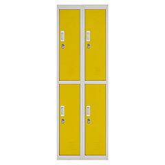 Locker acero 4 puertas con portacandado
