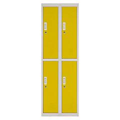 Locker acero 4 puertas con llave