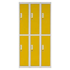 Locker acero 6 puertas con llave