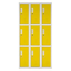 Locker acero 9 puertas con llave