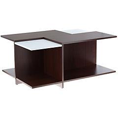 Mesa de centro 41,5x64x91,5 cm chocolate