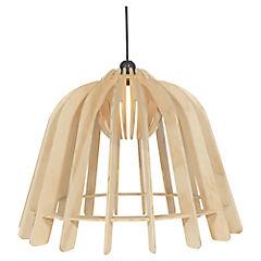 Lámpara de colgar 60W madera terciado E27