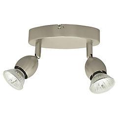 Foco 2 luces metálico GU10