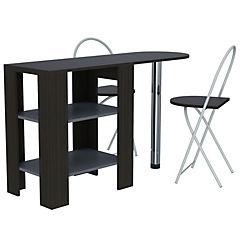 Combo de mesa funcional + 2 sillas