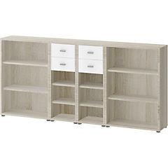 Gabinete 114x245x35 cm oak blanco