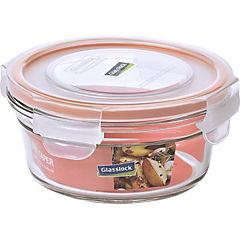 Contenedor hermético redondo vidrio 450 ml Transparente