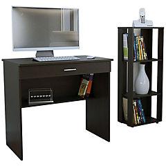 Combo escritorio + librero 100x80x100 cm wengué