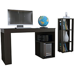 Combo escritorio + librero 100x120x124 cm wengué