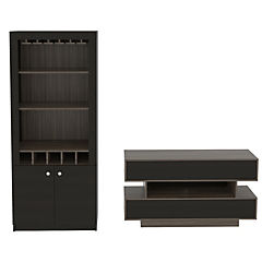 Combo de rack de TV + mueble de bar