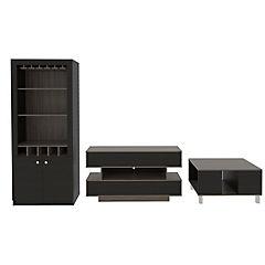 Combo de rack de TV + mesa de centro + mueble de bar