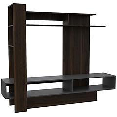 Estante para TV 152,2x180x40,2 cm habano gris