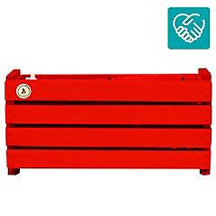 Macetero rectangular madera 17x45 cm Rojo