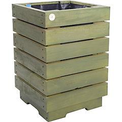 Macetero madera 40 cm Verde