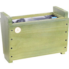 Macetero madera 16 cm Verde