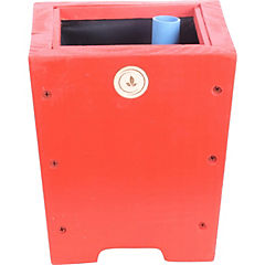 Macetero madera 18 cm Rojo