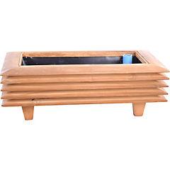 Macetero madera 9,2 cm habano