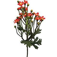 Vara mini Daisy artificial naranjo 63 cm