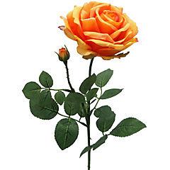 Flor artificial rosa bella naranjo 70 cm