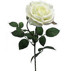 Flor artificial rosa bella blanco 70 cm