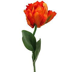 Flor artificial tulipán parrot naranjo 66 cm