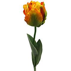Flor artificial tulipán parrot amarillo 66 cm