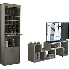 Combo bar kava + rack extensible rovere