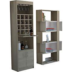 Combo bar kava + biblioteca cubo rovere