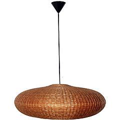 Lámpara colgante circular natural