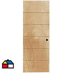 Puerta Huilo terciado HDF 65x200 cm con perforación