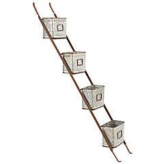 Escalerilla 160x28,5x15 cm gris
