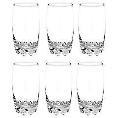 Set de vasos vidrio 6 unidades Transparente