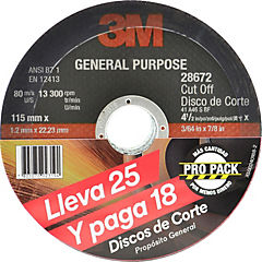 Set de discos de cortes metal 25 unidades