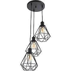 Lámpara Colgante Angular 3 Luces E27 40 W