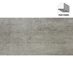 Gres porcelanato esmaltado HD 45X90 cm gris 1,62 m2