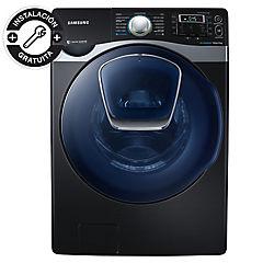 Lavadora y secadora frontal 20 kg 12 kg negro